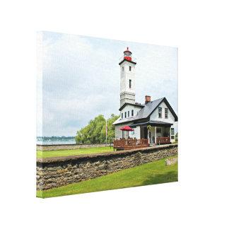 Ogdensburg Harbor Lighthouse, NY Wrapped Canvas