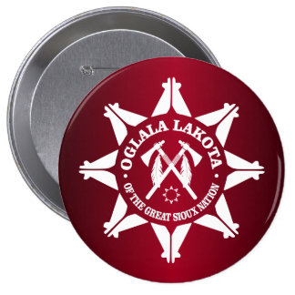 Oglala Lakota 4 Inch Round Button