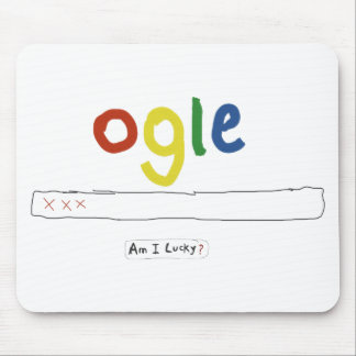 ogle_am i lucky mouse pad
