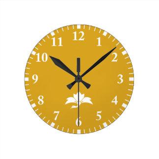 Ogre flower water caltrop crane round clock