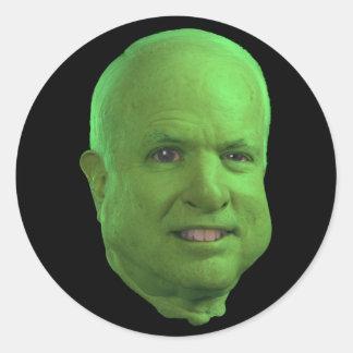Ogre McCain Round Sticker