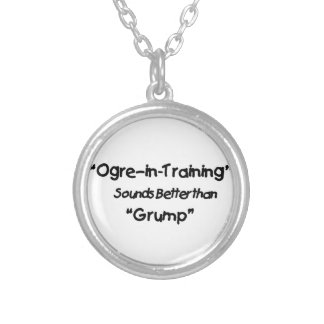 ogre silver plated necklace