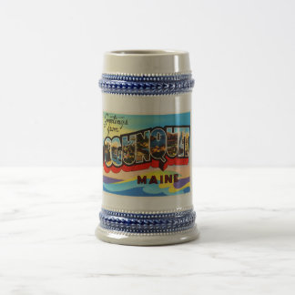 Ogunquit Maine ME Old Vintage Travel Souvenir Beer Stein