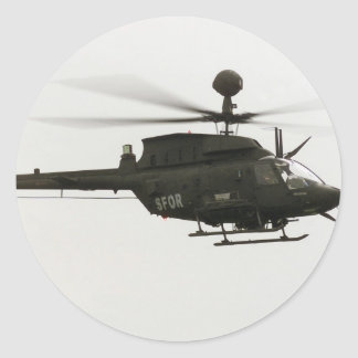 OH-58D Kiowa Warrior Classic Round Sticker