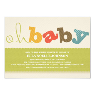 OH BABY! | COLORFUL BABY SHOWER INVITATION