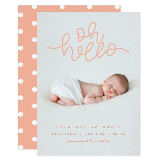 Oh Baby peach Card