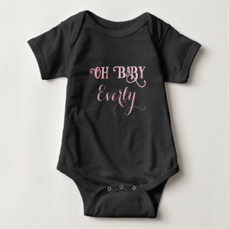 Oh Baby Personalized Pink Girly Girl Baby Bodysuit