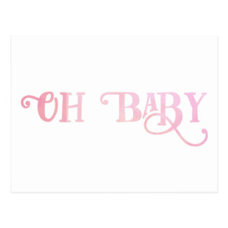 Oh Baby Personalized Pink Girly Girl Postcard