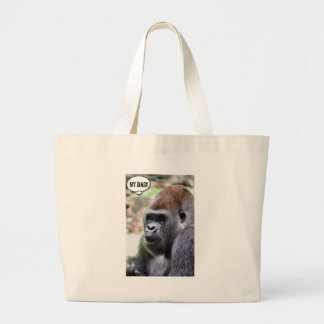 Oh bananas! Great Ape Jumbo Tote Bag