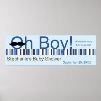 Oh Boy Baby Shower Banner Print