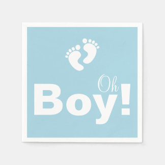 Oh Boy Baby Shower Paper Napkin Set