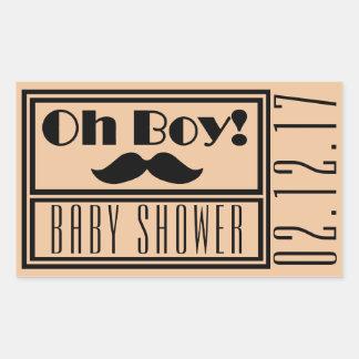 Oh Boy Black Mustache Baby Shower