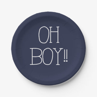 OH BOY!! PAPER PLATE