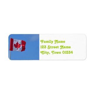 Oh Canada Return Address Label