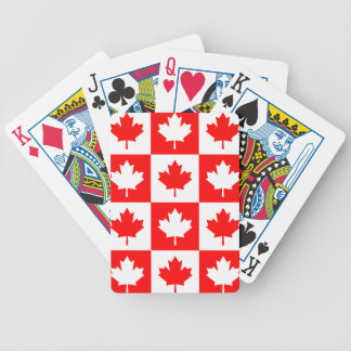 Oh! Canada Red Maple Leaf Checkerboard Poker Cards