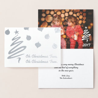 Oh Christmas Tree and Ornaments Foil and Photo Foil Card