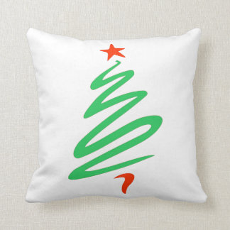 Oh Christmas Tree Green Red Throw Pillow