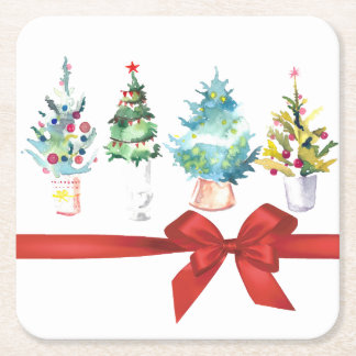 Oh, Christmas Tree Paper Holiday Coasters