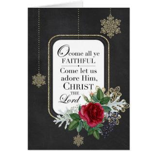 Oh Come All Ye Faithful | Christmas Carol Card