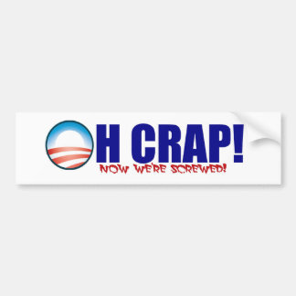 Oh Crap! Bumper Sticker