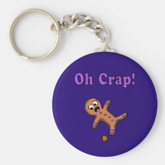 Oh Crap Gingerbread Man Keychain