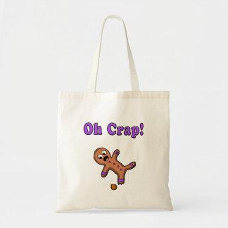 Oh Crap Gingerbread Man Tote Bag