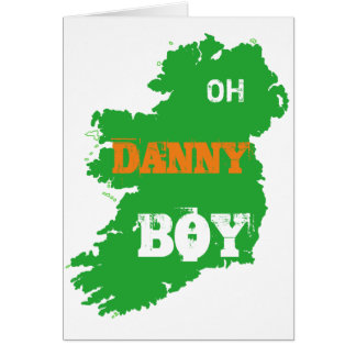Oh Danny Boy St Paddys Day cool Eire Map Note Card
