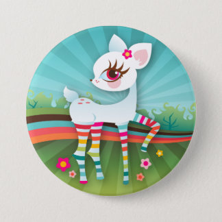 Oh Deer! Albino Rainbow Button