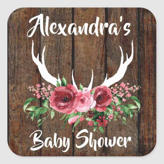 Oh Deer Baby Shower Favour Sticker