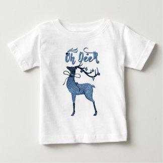 Oh Deer!  Boho Christmas Reindeer Baby T-Shirt