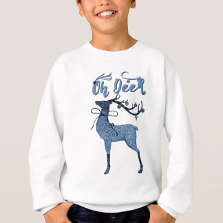 Oh Deer!  Boho Christmas Reindeer Sweatshirt