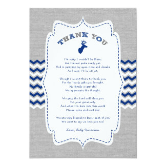 Oh Deer Buck Baby Shower thank you note + poem Card