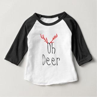 Oh Deer Christmas baby Raglan T-shirt