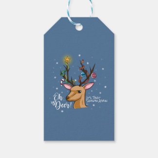"""Oh Deer"" Christmas Decoration Customizable Gift Tags"