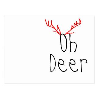 Oh Deer christmas postcard
