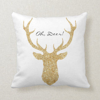 """Oh, Deer"" Faux Glitter Silhouette 