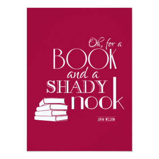 Oh For a Book and a Shady Nook Card
