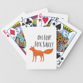 Oh For Fox Sake! Bicycle Playing Cards