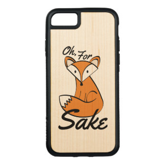 Oh, For Fox Sake Carved iPhone 8/7 Case