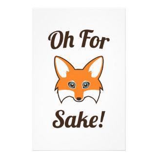 Oh For Fox Sake Stationery Design