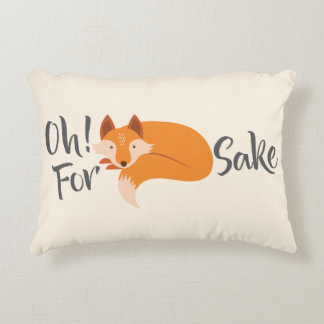 oh for fox sake throw pillow