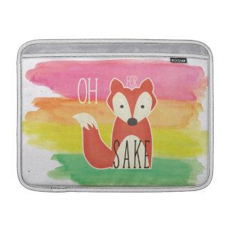 Oh For Fox Sake Watercolor Stripes MacBook Sleeve