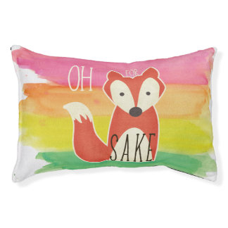Oh For Fox Sake Watercolor Stripes Small Dog Bed