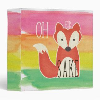 Oh For Fox Sake Watercolor Stripes Vinyl Binders