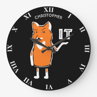 Oh Fox It Funny Sarcastic Humorous Cool Funny Large Clock