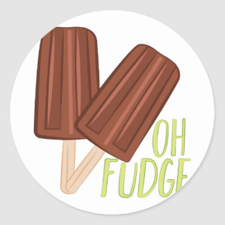 Oh Fudge Round Sticker
