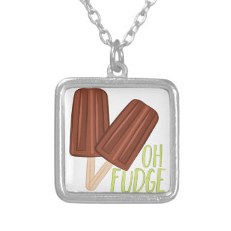 Oh Fudge Silver Plated Necklace