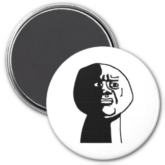 Oh God Why Guy Rage Face Meme 3 Inch Round Magnet