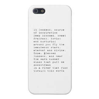 Oh Goddess.pdf iPhone 5/5S Cases