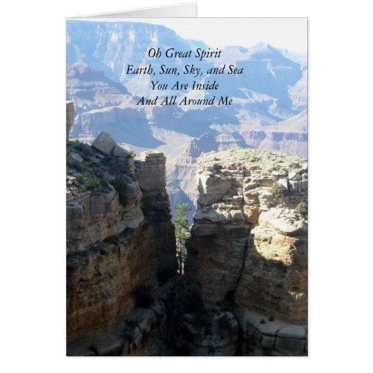 Oh Great Spirit Notecard